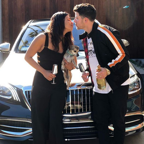 Nick Jonas gifts a black Maybach to wife Priyanka Chopra, she gave it a name, nick jonas gifts a black maybach to wife priyanka chopra,  she gave it a name,  nick jonas gifts priyanka chopra a maybach,  she names it extra chopra jonas,  priyanka chopra,  nick jonas,  hollywood news,  hollywood gossip,  ifairer