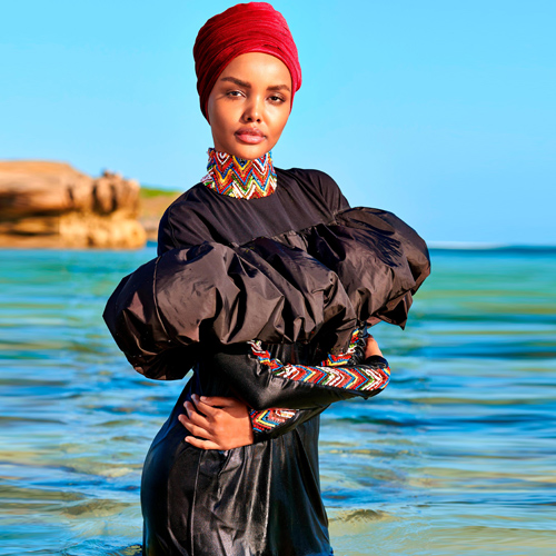 Halima Aden become first model to wear a burkini in Sports Illustrated Swimsuit Issue, halima aden become first model to wear a burkini in sports illustrated swimsuit issue,  model halima aden,  hijab,  burkini,  sports illustrated swimsuit issue,  hollywood news,  hollywood gossip,  ifairer