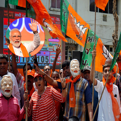 Election results 2019: Ab ki baar, phir Modi sarkar, BJP set for second term, election results 2019,  ab ki baar,  phir modi sarkar,  bjp set for second term,  #electionresults2019,  #elections,  #election2019,  lok sabha election results 2019,  modi sarkar,  bjp