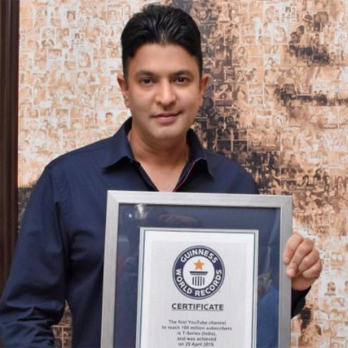 T-Series Bhushan Kumar wins Guinness World Records certificate, t-series bhushan kumar wins guinness world records certificate,  bhushan kumar,  t-series receives guinness world records certificate for most youtube subscribers,  t-series,  bollywood news,  bollywood gossip,  ifairer