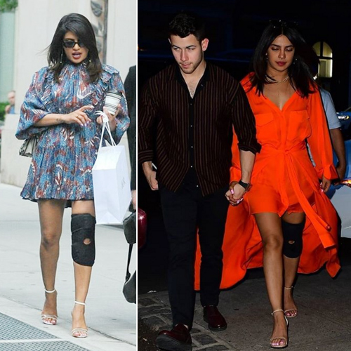 Injured knee and high heels: Netizens troll Priyanka Chopra, injured knee and high heels,  netizens troll priyanka chopra,  hollywood news,  hollywood gossip,  ifairer