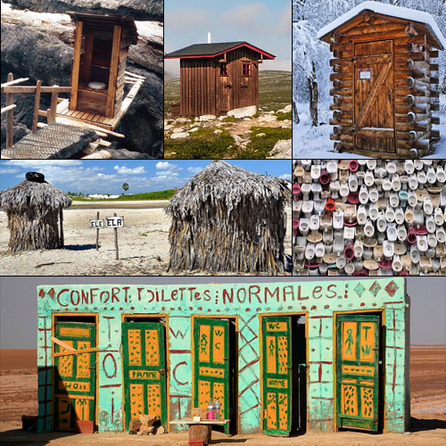 The world's strangest but beautiful toilets