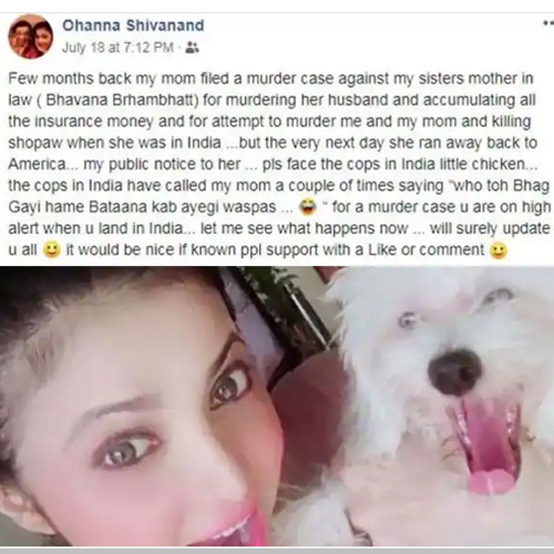 Shilpa Anand accuses relatives of plotting murder, shilpa anand accuses relatives of plotting murder,  dill mill gaye actress,  shilpa anand,  ohanna shivanand,  tv gossips,  tv celebs news,  ifairer