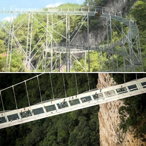 The world's longest glass bridge will be open in China this month, the world longest glass bridge will be open in china this month,  china to open world longest glass spiral bridge this month,  world longest glass spiral bridge,  china,  destinations,  travel,  places,  ifairer