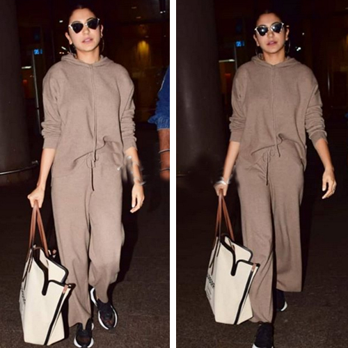 Anushka Sharma flaunts a costly handbag, amount can fund your solo trip to Singapore, anushka sharma flaunts a costly handbag,  amount can fund your solo trip to singapore,  anushka sharma flaunts a costly burberry handbag worth rs 92, 000 at the airport,  anushka sharma,  bollywood news,  bollywood gossip,  ifairer