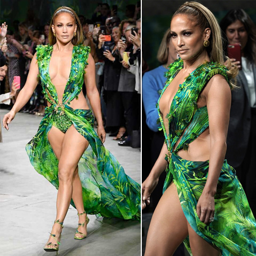 Jennifer Lopez raised eyebrows in green at the Milan Fashion Week, jennifer lopez raised eyebrows in green at the milan fashion week,  jennifer lopez walk the ramp at the milan fashion week,  jennifer lopez,  milan fashion week,  hollywood news,  hollywood gossip,  ifairer
