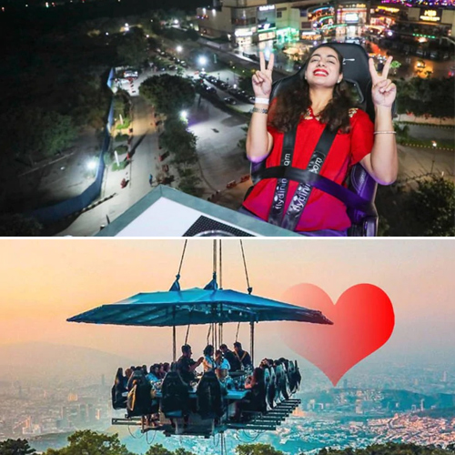 Fly dining adventure restaurant in Noida serves food 160 feet up in the air, fly dining adventure restaurant in noida serves food 160 feet up in the air,  noida restaurant,  fly dining noida restaurant,  fly dining,  adventure restaurant in noida,  hotels or resorts,  travel,  restaurant,  ifairer