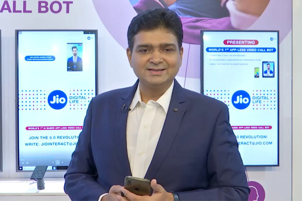 Jio introduces world's first app-less video call bot, jio introduces world first app-less video call bot,  reliance jio,  jio new app,  video call bot,  ai based video call assistant,  imc 2019,  technology