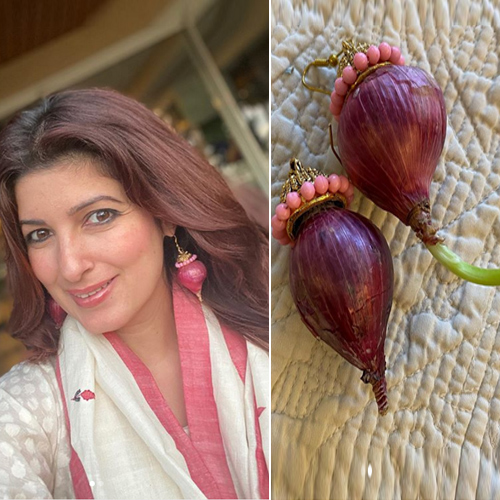 In 5 pics: Twinkle Khanna flaunts onion earrings gifted by Akshay Kumar, twinkle khanna flaunts onion earrings gifted by akshay kumar,  twinkle khanna,  onion earrings,  kareena kapoor in onion earrings,  bollywood news,  bollywood gossip,  ifairer