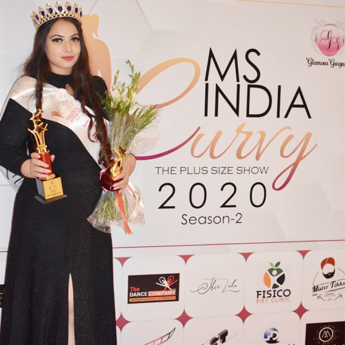 Akanksha Gupta crowned Ms India Curvy 2020