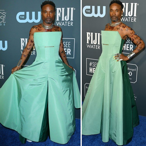 Billy Porter stuns in teal jumpsuit gown at Critics Choice Awards 2020, billy porter stuns in teal jumpsuit gown at critics choice awards 2020,  billy porter,  critics choice awards 2020,  hollywood news,  hollywood gossip,  ifairer