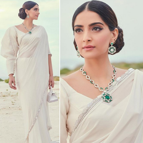Wear 5 type of accessories: Sonam Kapoor opted saree with worth of Rs. 77.5k bag, wear 5 type of accessories,  sonam kapoor opted saree with worth of rs. 77.5k bag,  sonam kapoor,  sonam kapoor fashion trends,  fashion accessories,  ifairer