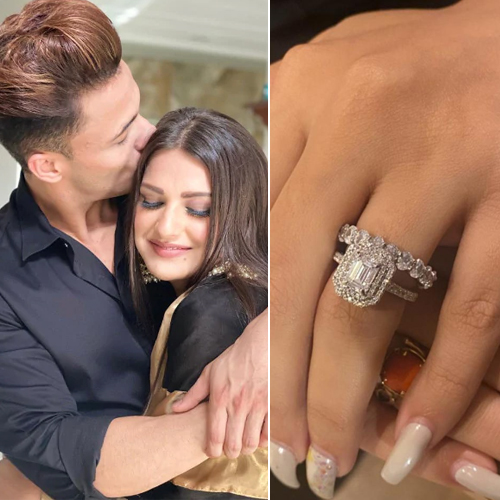 Asim Riaz proposed to Himanshi Khurana with a Diamond ring!, asim riaz proposed to himanshi khurana with a diamond ring,  himanshi khurana flaunts a diamond ring,  asim riaz,  himanshi khurana,  tv gossips,  bigg boss 13,  ifairer