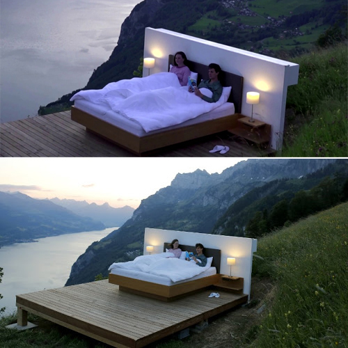 Outdoor hotel rooms in the Swiss Alps: Spending the night in unobstructed views of majestic landscape