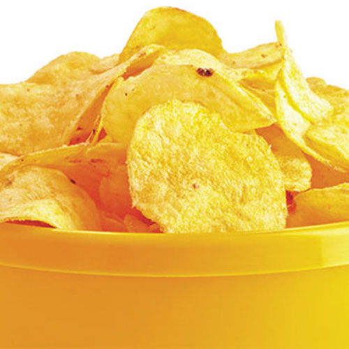 Crispy Potato Chips make at home in a very easy way