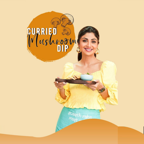 Shilpa Shetty share a recipe of healthy mushroom dip