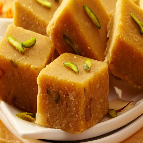 Besan and almond barfi recipe