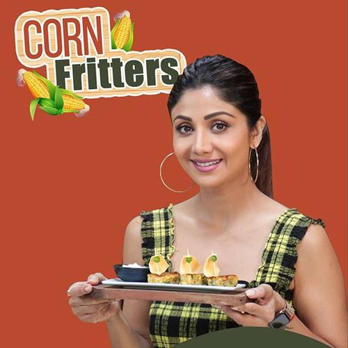 Shilpa Shetty share healthy corn fritter recipe, shilpa shetty share healthy corn fritter recipe,  shilpa shetty,  corn fritter recipe,  how to make corn fritter,  recipe of corn fritter,  ifairer