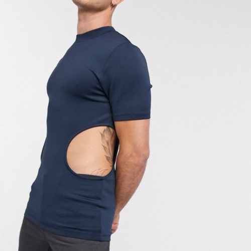 Bizarre fashion trends! men`s tee with holes on the sides, bizarre fashion trends,  men tee with holes on the sides,  a brand is selling men tee with holes on the sides,  asos,  weird fashion trends,  fashion trends 2020,  ifairer