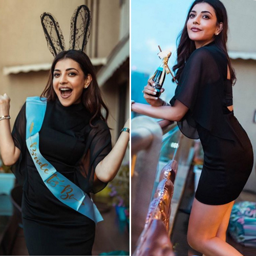 Bride-to-be Kajal Aggarwal enjoys bachelorette party, see in 6 pics