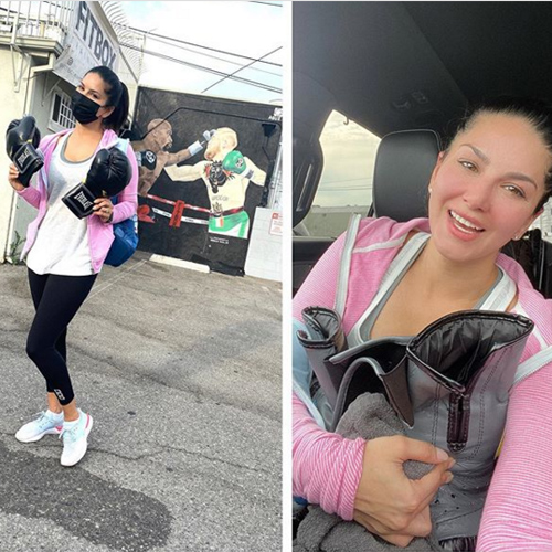 Sunny Leone learning boxing, shares before and after pic