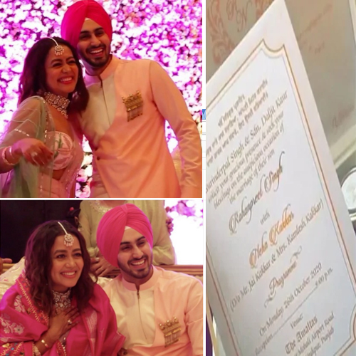 Neha Kakkar and Rohanpreet Singh`s wedding invitation leaked, neha kakkar and rohanpreet singh wedding invitation leaked,  neha kakkar and rohanpreet singh wedding,  neha kakkar,  rohanpreet singh,  bollywood,  bollywood news,  ifairer