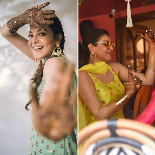 Kajal Aggarwal`s dreamy pics from mehendi and haldi ceremony out, kajal aggarwal dreamy pics from mehendi and haldi ceremony out,  kajal aggarwal-gautam kitchlu pre-wedding festivities,  kajal aggarwal mehendi ceremony,  kajal aggarwal haldi ceremony,  bollywood,  bollywood news,  ifairer