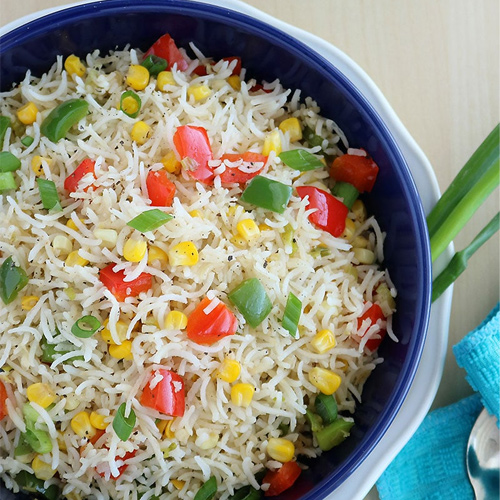 Corn fried rice recipe