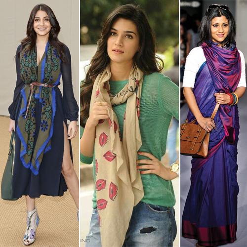 5 Super stylish ways to tie a scarf , 5 super stylish ways to tie a scarf,  new ways to wear a scarf,  ways to wear scarves,  how to tie scarf,  fashion tips,  ifairer