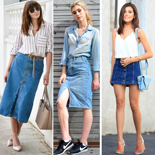 How to Style a Denim Skirt, way to wear denim skirt with stylish footwear,  