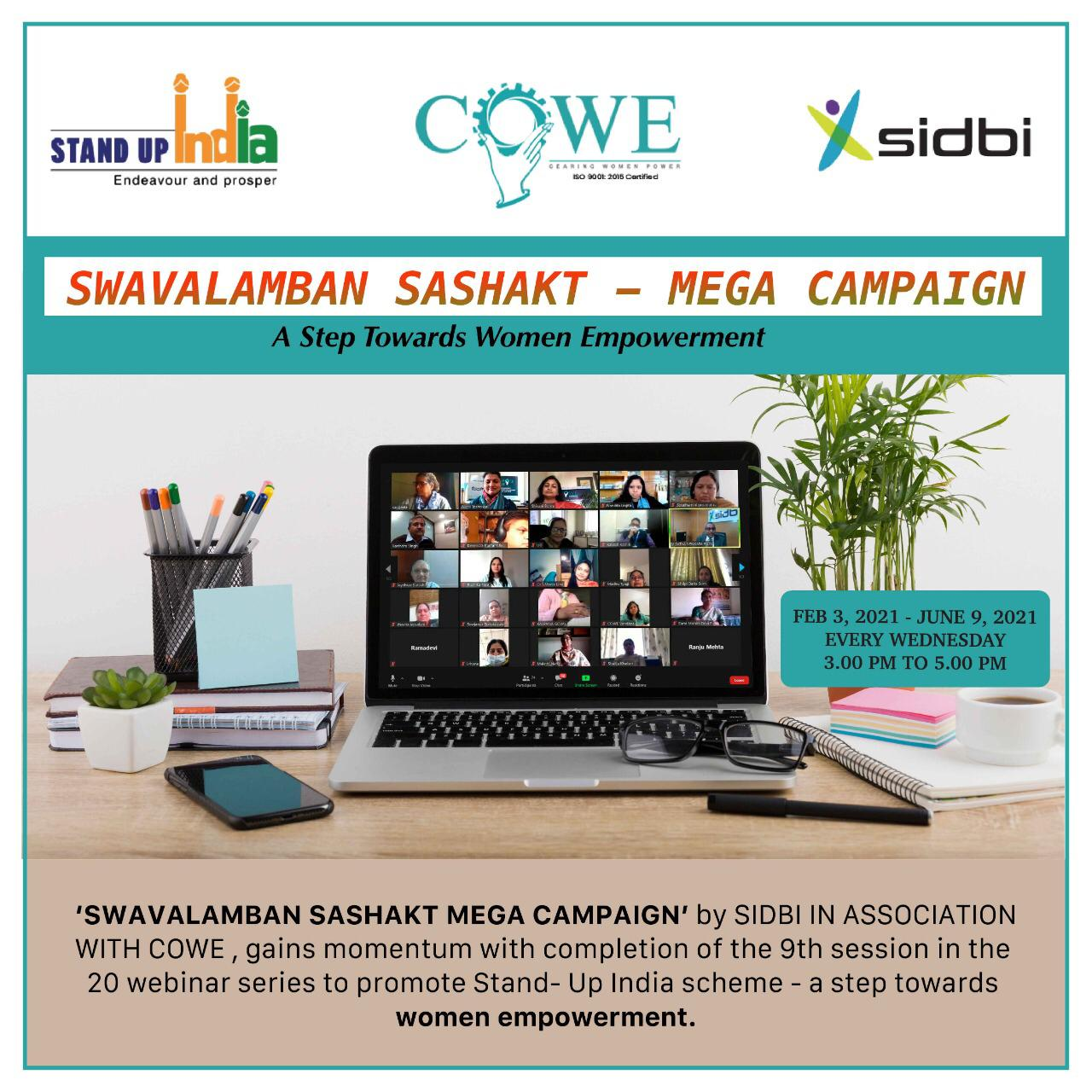 'SWAVALAMBAN SASHAKT MEGA CAMPAIGN' BY SIDBI IN ASSOCIATION WITH COWE INDIA