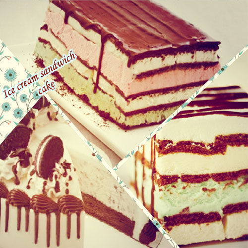 Ice cream sandwich cake, ice cream sandwich cake,  sandwich cake,  how to make ice cream sandwich cake,  recipe for ice cream sandwich cake,  recipes,  tea time recipes,  ifairer