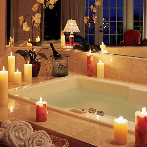 5 decor ideas to make your bathroom romantic slide 1 for Bathroom romance photos