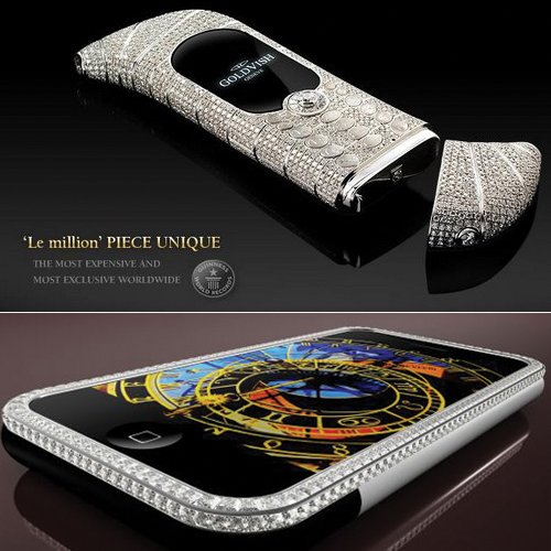 5 Extravagantly Expensive Smart Phones in the world, 5 extravagantly expensive smart phones in the world,  iphone 3g king,  goldvish le million,  diamond crypto smartphone,  supreme goldstriker iphone 3g,  technology,  gadget,  ifairer