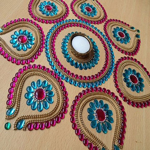 Home Decor Ideas For Navratri: 5 Rangoli Designs For Navratri Slide 5, Ifairer.com