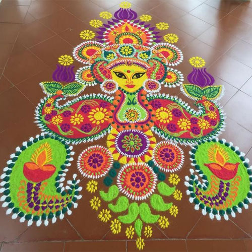Home Decor Ideas For Navratri: 5 Rangoli Designs For Navratri Slide 4, Ifairer.com