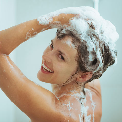Image result for shampoo  your hair at home spa
