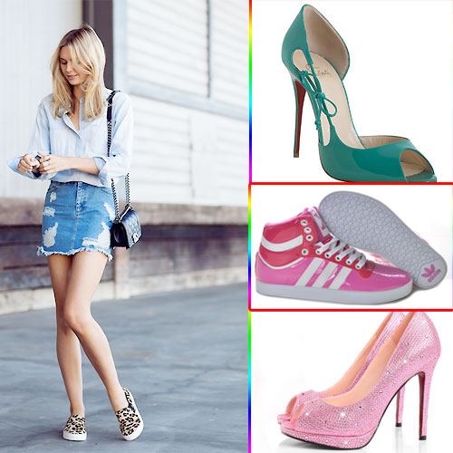 6 Gorgeous Shoes With Denim Skirts , 6 gorgeous shoes with denim skirts,  gorgeous shoes with denim skirts,  fashion tips for women,  tips for fashion,  latest fashion trend,  fashion tips,  denim skirts with perfect shoes collections,  fashion accessories,  latest fashion accessories,  ifairer