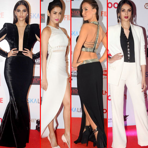 7 B-town hotties at filmfare party, 7 b-town hottie at filmfare pre awards party 2016,  bollywood actresses at filmfare pre awards party 2016,  filmfare pre awards party 2016,  fashion trends,  fashion tips,  ifairer