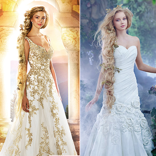 7 fairytale disney princess inspired wedding gowns slide 2 for Fairytale inspired wedding dresses