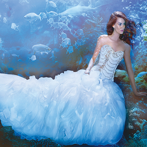7 Fairytale Disney Princess Inspired Wedding Gowns Slide 7, ifairer.com