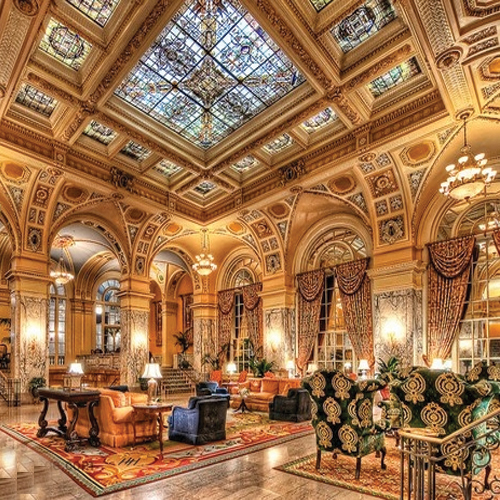 7 most extravagantly luxurious hotel lobbies in the world for Beautiful hotels