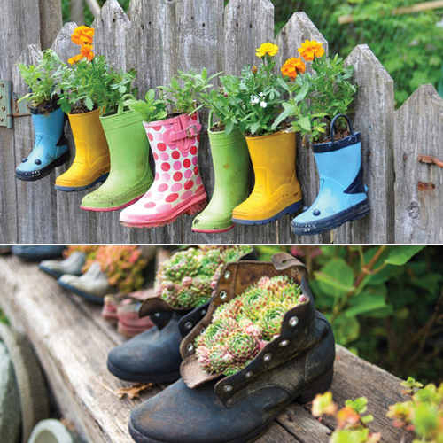 Cheap Gardening Ideas: 7 Unique Gardening Decor Ideas With Recycled Items Slide 3