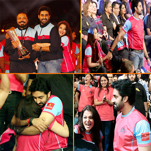 Aishwarya and Abhishek lovely Moment, aishwarya and abhishek lovely moment,  aishwarya rai,  abhishek bachchan get lovey-dovey at kabaddi game,  aishwarya rai,  abhishek bachchan,  bollywood news,  bollywood masala,  bollywood gossip,  latest bollywood news,  ifairer