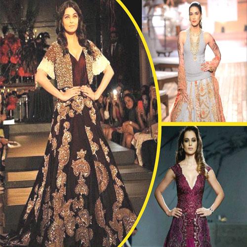 Bollywood beauties hit Amazon Couture Week, amazon couture week 2015,  new delhi,  aishwarya rai,  kangana ranaut,   richa chadha,  shilpa shetty,  kriti sanon,  kalki koechlin,   chitrangada singh,  b town famous diva,   famous actress,  viral actress,  ramp walk,  famous beauties
