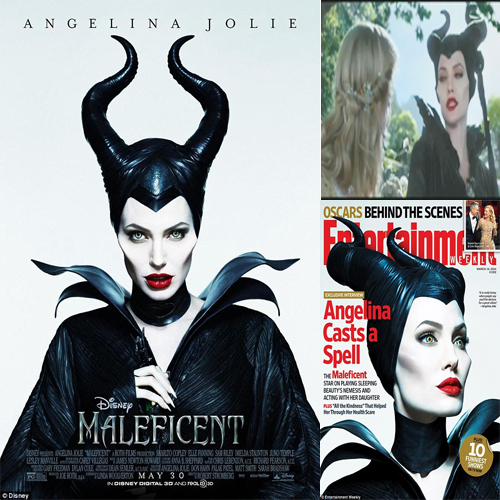 Angelina Jolie captured in Maleficent look!!, maleficent,  angelina jolie,  disney,  new hollywood movie,  hollywood,  hollywood news,  hollywood gossips,  hollywood stars,  brangelina's children,  vivienne,  prosthetic cheekbones and horns,  sleeping beauty,  princess aurora,  angelina jolie captured in maleficent look