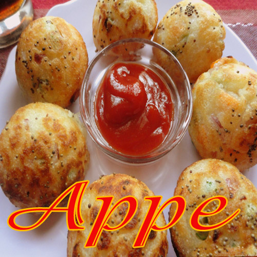 Appe , appe ,  tea time recepies,  main recepies,  south indian dishes
