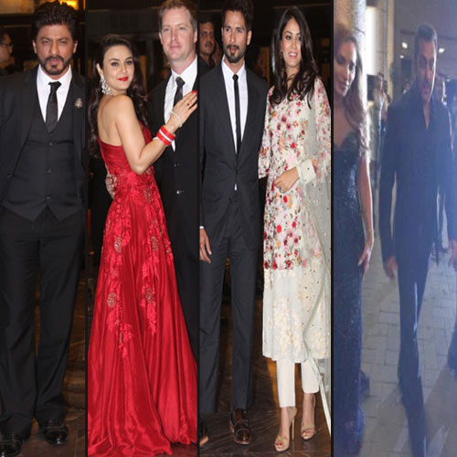 B-town celebs at Preity Zinta reception party, bollywood actress preity zinta,  b-town celebs at preity zinta reception party,  preity zinta reception party pictures,  srk,  salman,  shahid-mira and other b-town celebs at party,  preity zinta - gene goodenoughs reception,  madhuri dixit,  bollywood news,  bollywood gossip