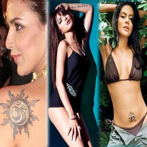 B-Town Divas and their sexy inking  , bollywood celebs,  b-town divas and their sexy inking,  permanent tattoos,  tattoo-artists,  tattoo-bearer,  top 7 bollywood celebs that sport a tattoo,  bollywood,  sushmita sen tattoo,  deepika padukone tattoo,  kangana ranaut tattoo,  esha deol tattoo,  arora sisters tattoo,  priyanka chopra tattoo,  mandira bedi tattoo,  entertainment,  bollywood,  inking