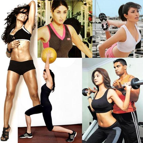 B-Town's sexy Fitness freaks! , bipasha basu,  shilpa shetty kundra,  priyanka chopra,  katrina kaif,  kareena kapoor khan,  fitness mantra of bollywood actresses,  fitness regime,  fitness dvd bipasha,  shilpa yoga,  bollywood actresses physical fitness,  fit bodies of celebs